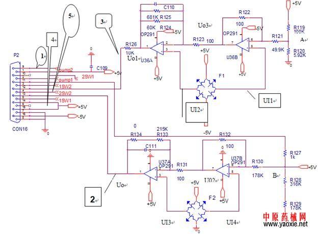 压力传感器放大电路图