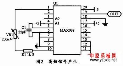 芯片组成的高频信号产生电路